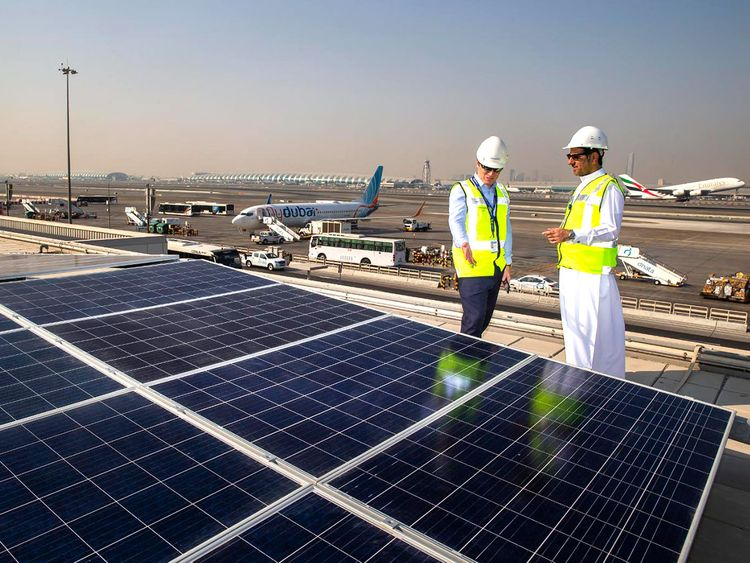 Dubai International Airport, sustainability, carbon emissions, solar panels, Etihad Energy Services Company, carbon dioxide emissions, electricity from solar power, Energy Services Company, industrial retrofits, solar projects, Sustainability practitioners, CSE, Center for Sustainability and Excellence, Dubai Sustainability Training, Certified Sustainability (CSR) Practitioner Program in Dubai, CSR Training in Dubai, Certified Sustainability (CSR) Training in Dubai